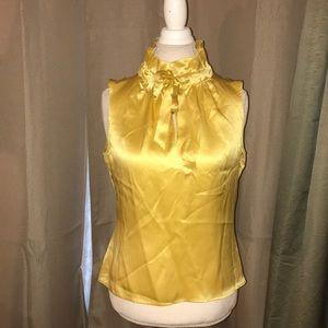 Satin yellow dress shirt